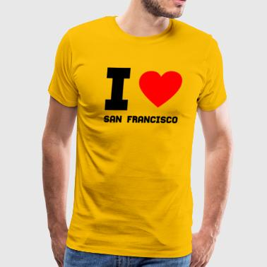 I love San Francisco gift present special offer - Men's Premium T-Shirt