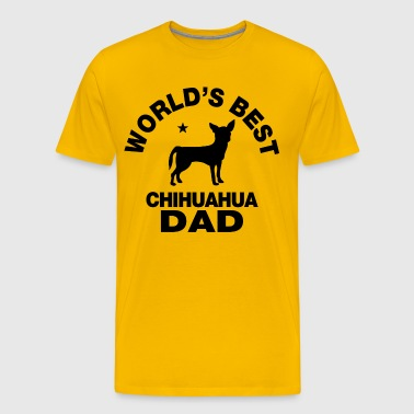 worlds best chihuahua dad - Men's Premium T-Shirt