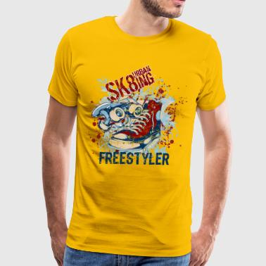 skating design - Men's Premium T-Shirt