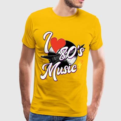 I Love 80s Music - Men's Premium T-Shirt