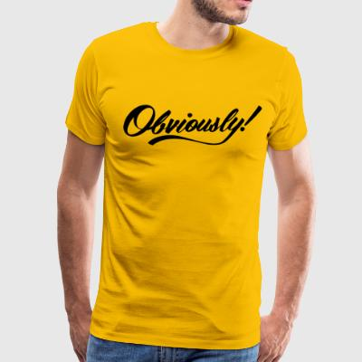 OBVIOUSLY in BLACK - Men's Premium T-Shirt