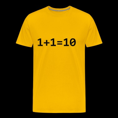 1+1=10 Binary - Men's Premium T-Shirt