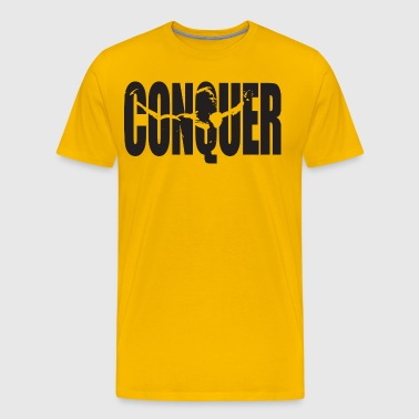 CONQUER - Arnold Motivation - Men's Premium T-Shirt