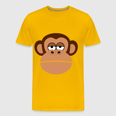 Monkey Cartoon Face - Men's Premium T-Shirt
