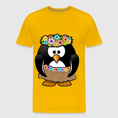 Hula dancer penguin - Men's Premium T-Shirt
