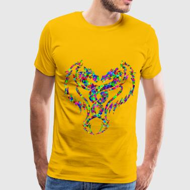 Prismatic Low Poly Double Dragon - Men's Premium T-Shirt