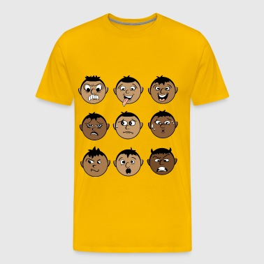 SMILEY EXPRESSIONS MALE - Men's Premium T-Shirt