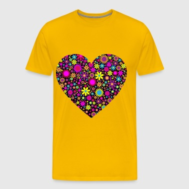 Floral Heart 2 - Men's Premium T-Shirt