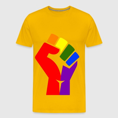 Rainbow fist remixed - Men's Premium T-Shirt