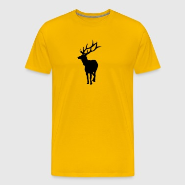 Caution, Elk Crossing - Men's Premium T-Shirt