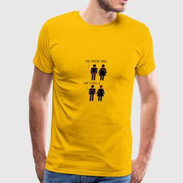 how love actually happened - Men's Premium T-Shirt