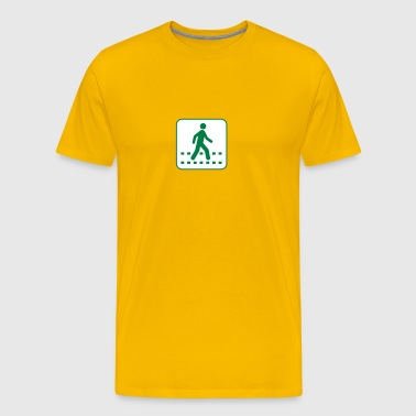 Pedestrian Crossing White - Men's Premium T-Shirt