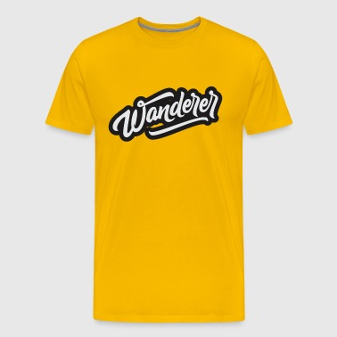 Wanderer- slope font - Men's Premium T-Shirt