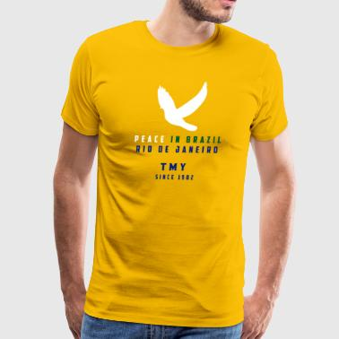 Peace In Brazil - TMY Since 1982 - Men's Premium T-Shirt