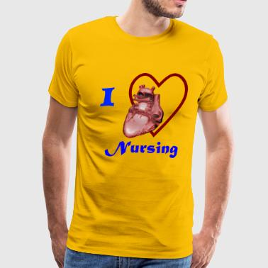 I Love Nursing - Men's Premium T-Shirt