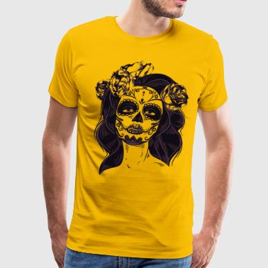 Woman Tatoo Design - Men's Premium T-Shirt
