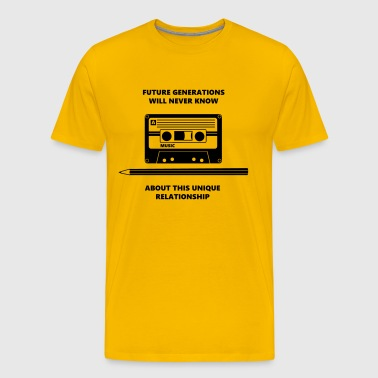 Relationship Audio Tape Pencil - Men's Premium T-Shirt