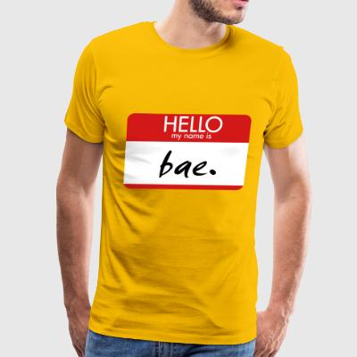 HELLO my name is bae - Men's Premium T-Shirt