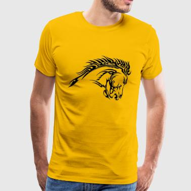 tribal horse tattoo designs - Men's Premium T-Shirt