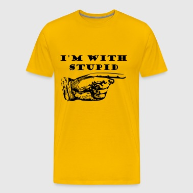 I am wit stupid - Men's Premium T-Shirt