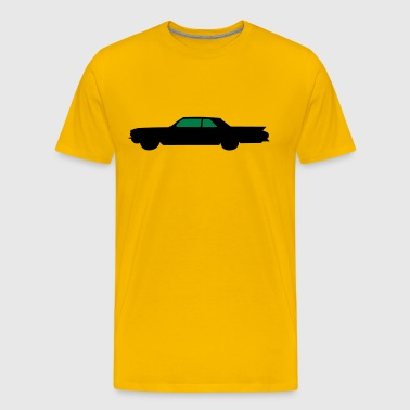 Old Car Silhouette - Men's Premium T-Shirt