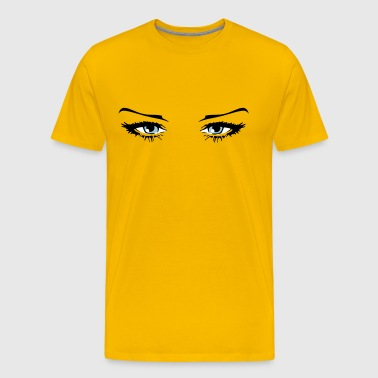 Beautiful woman eyes - Men's Premium T-Shirt