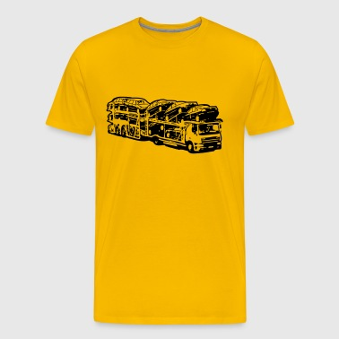 Truck truck car transporter - Men's Premium T-Shirt