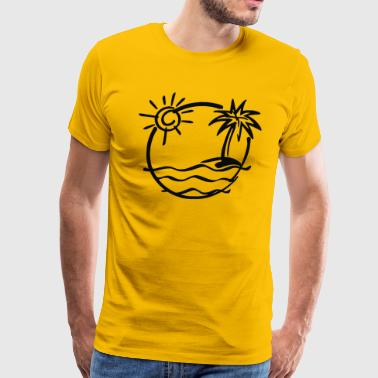 Is beach - Men's Premium T-Shirt