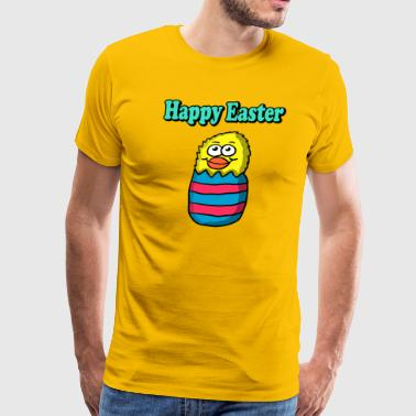 Happy Easter Egg Chick, Funny Easter Day Shirt - Men's Premium T-Shirt