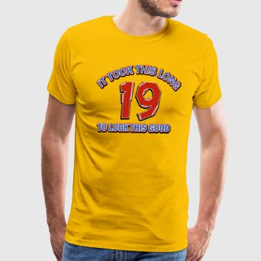 19th birthday designs - Men's Premium T-Shirt