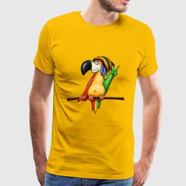 reggae parrot cool casual music peace gift - Men's Premium T-Shirt