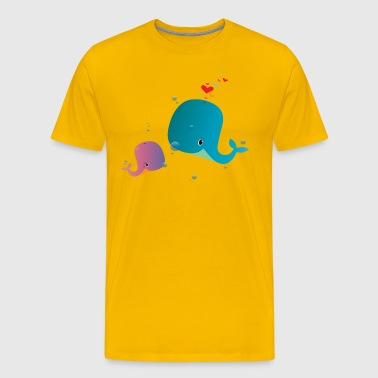 Whale You Be My Valentine? - Men's Premium T-Shirt