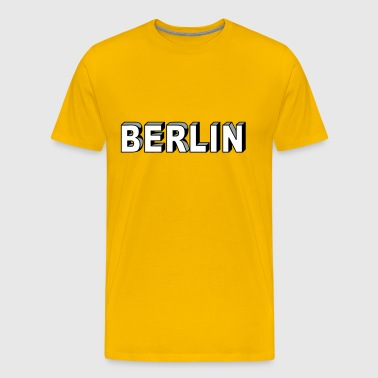 BERLIN Block Letters - Men's Premium T-Shirt