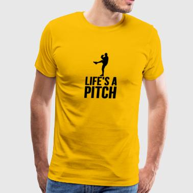Life s A Pitch Baseball Softball - Men's Premium T-Shirt
