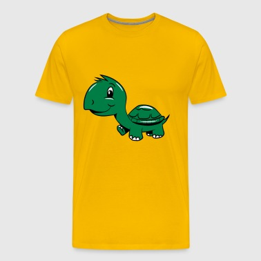 Turtle funny cute kids - Men's Premium T-Shirt