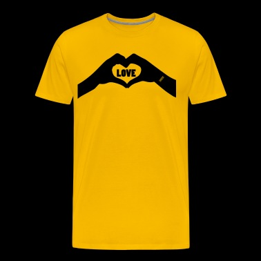 Love - Heart Love Hands - Men's Premium T-Shirt
