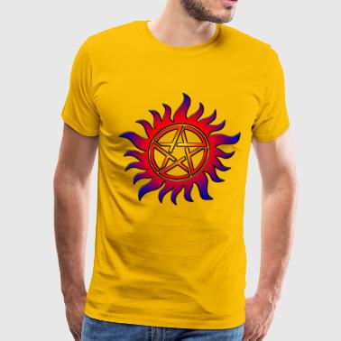 Anti Possession Symbol Sun Fire - Men's Premium T-Shirt
