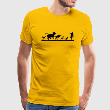 Flutist Ratcatcher The Town Musicians Bremen - Men's Premium T-Shirt