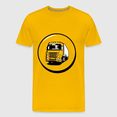 Truck truck drive button - Men's Premium T-Shirt