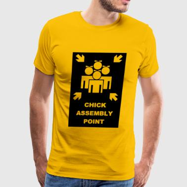 Chick Assembly Point Funny T shirt - Men's Premium T-Shirt