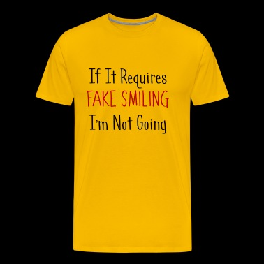 No Faking - Men's Premium T-Shirt
