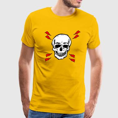LIGHTNING SKULL - Men's Premium T-Shirt