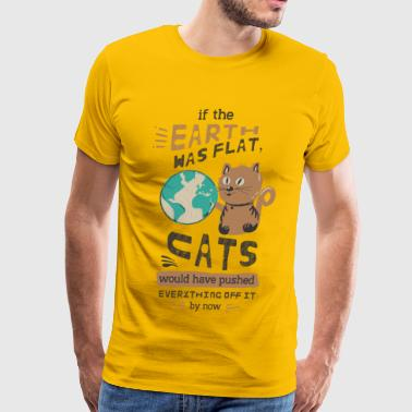 If the earth was flat - Men's Premium T-Shirt