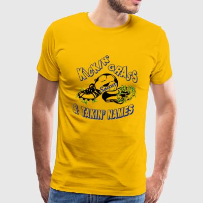 KICKIN GRASS - Men's Premium T-Shirt