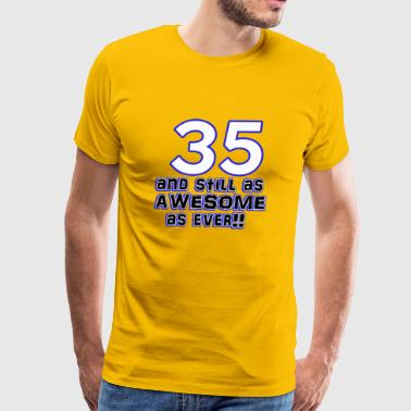 35 birthday designs - Men's Premium T-Shirt
