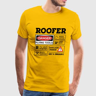 6254398 129692482 roofer - Men's Premium T-Shirt