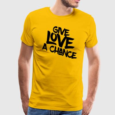 Give Love a Chance - Men's Premium T-Shirt