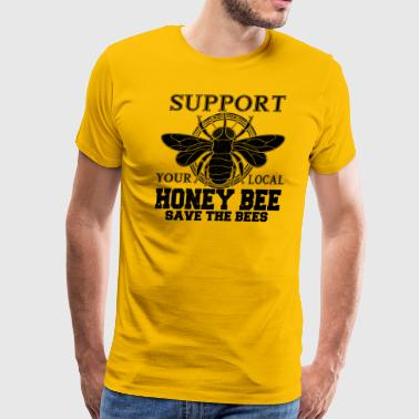 Support Local Honey Bees Retro Design - Men's Premium T-Shirt