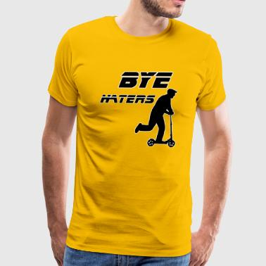 Bye Haters- Old Man on Scooter - Men's Premium T-Shirt