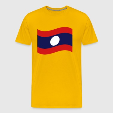 Laos / Lao Flag Wave - Men's Premium T-Shirt